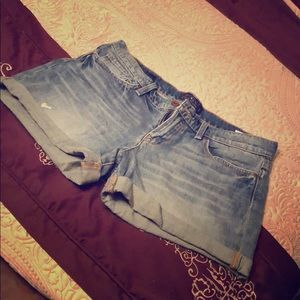 """Lucky Brand """"The Roll Up"""" Denim Shorts"""